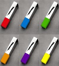 Personnalisation de clés USB gravées avec capuchon de couleur pour la société Arena