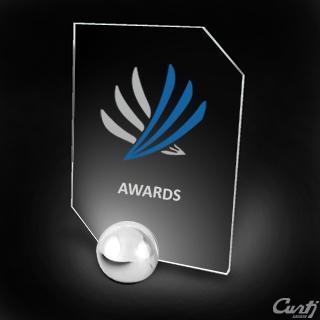 Trophée Oméga Plexiglas et métal