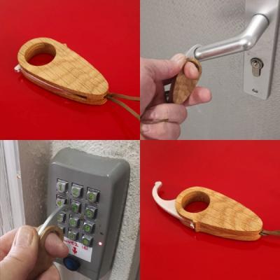 Porte-clés Hook Stop virus, dispositif sans contact pour la vie de tous les jours