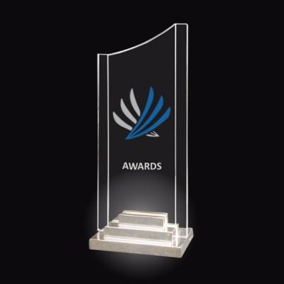 Trophée Art Déco Plexiglas et métal